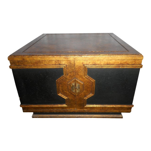 Black Asian Square Table - Image 1 of 7
