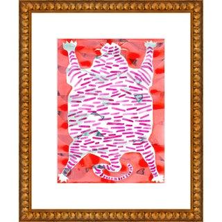 "Medium ""Tiger Rug"" Print by Kate Roebuck, 18"" X 22"" For Sale"