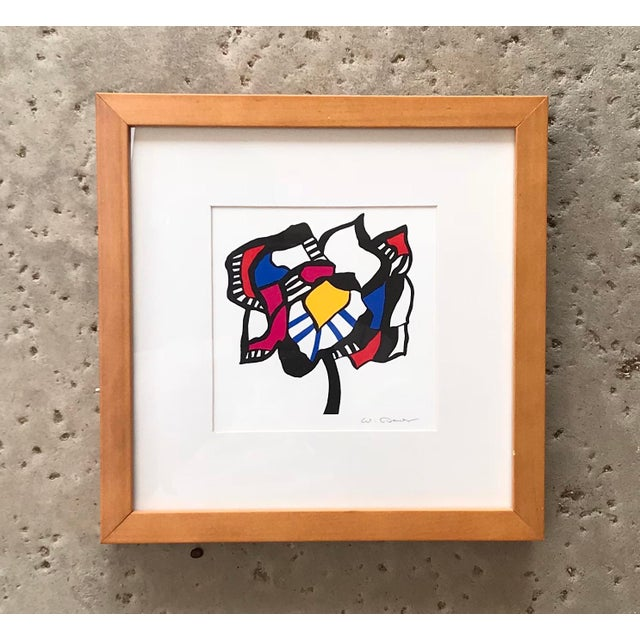 Abstract 1983 - Wolf Bauer - Hand Signed Lithograph For Sale - Image 3 of 9