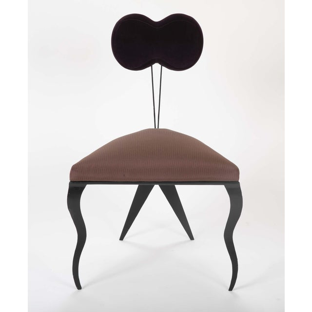 Upholstered Steel Frame Chairs by Joaquin Gasgonia Palencia - Set of 4 For Sale In New York - Image 6 of 13