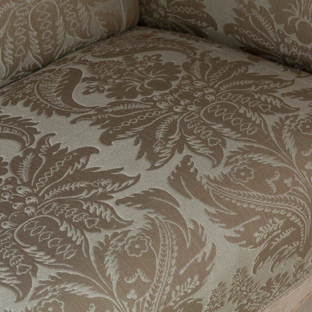 Textile A 19th Century Damask Upholstered Swedish Sofa, circa 1880 For Sale - Image 7 of 8