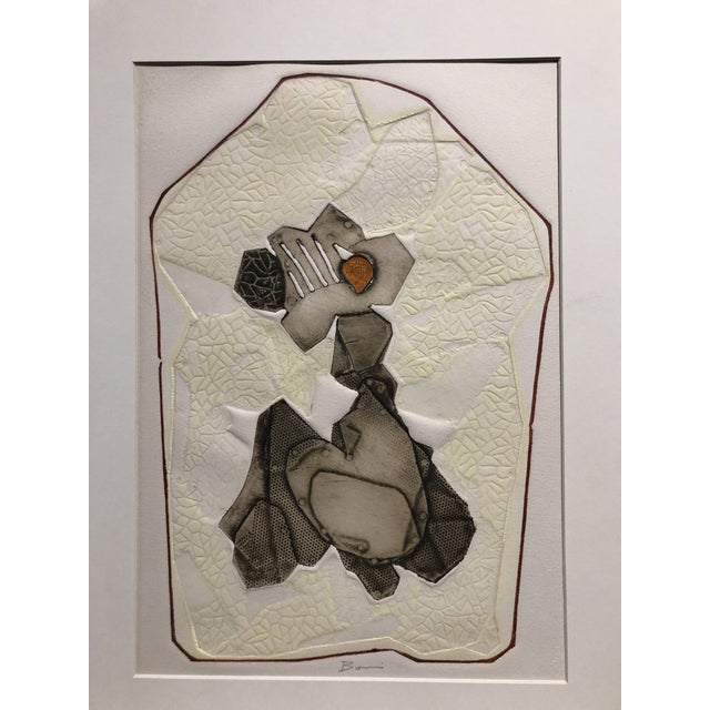 """Paolo Boni ''Recueillement'' 1966 Metal relief and intaglio in colors, copper, brass and zinc plates 18""""x13"""" Signed in..."""