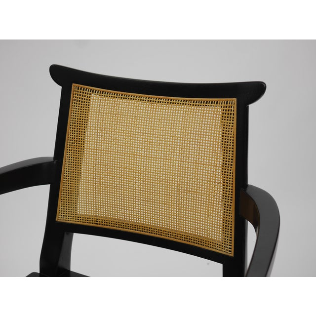Twelve Asian Dining Chairs by Edward Wormley for Dunbar For Sale - Image 10 of 11