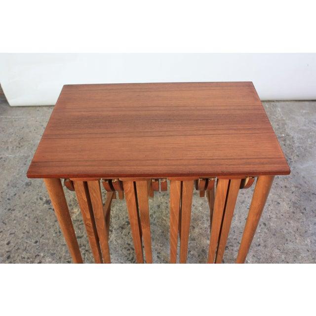 Set of Teak Serving Tables after Bertha Schaefer For Sale - Image 9 of 10