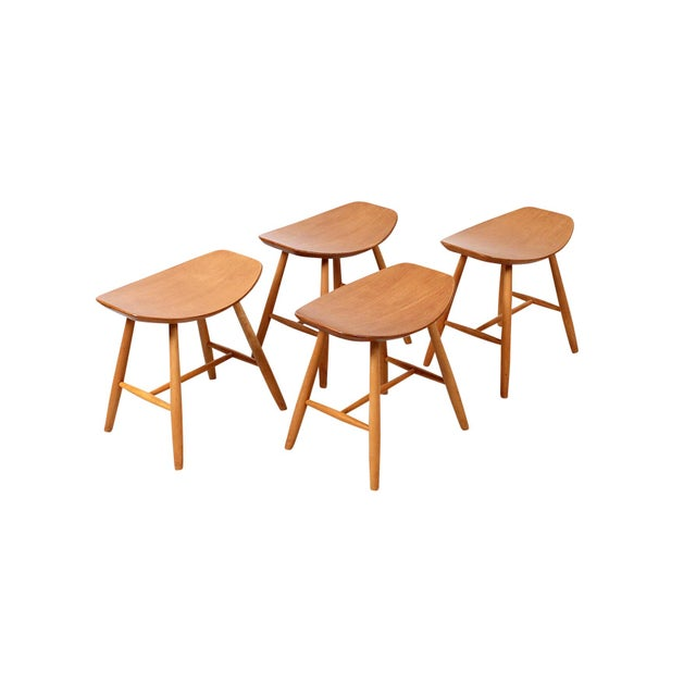 Set of 4 Stools by Ejvind Johansson for FDB Mobler For Sale - Image 11 of 11