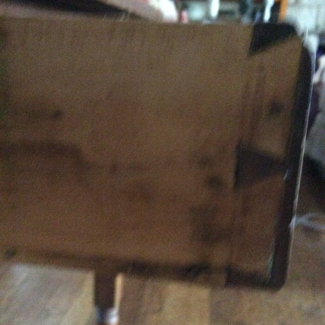 Primitive American Pine Table With Drawer For Sale - Image 11 of 13