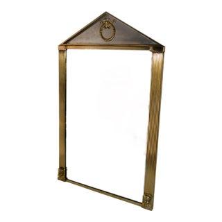 Vintage Brass Sphinx Pyramid Shaped Mirror