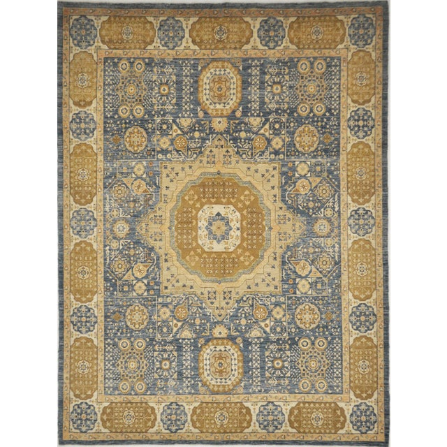 Mamluk Hand Knotted Wool Area Rug - 8'3 X 11'1 For Sale - Image 4 of 4