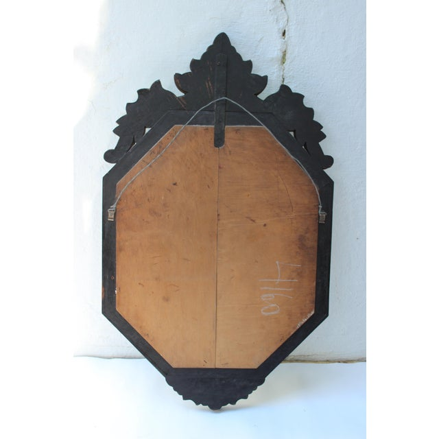 Italian Venetian Style Glass Mirror For Sale - Image 3 of 12
