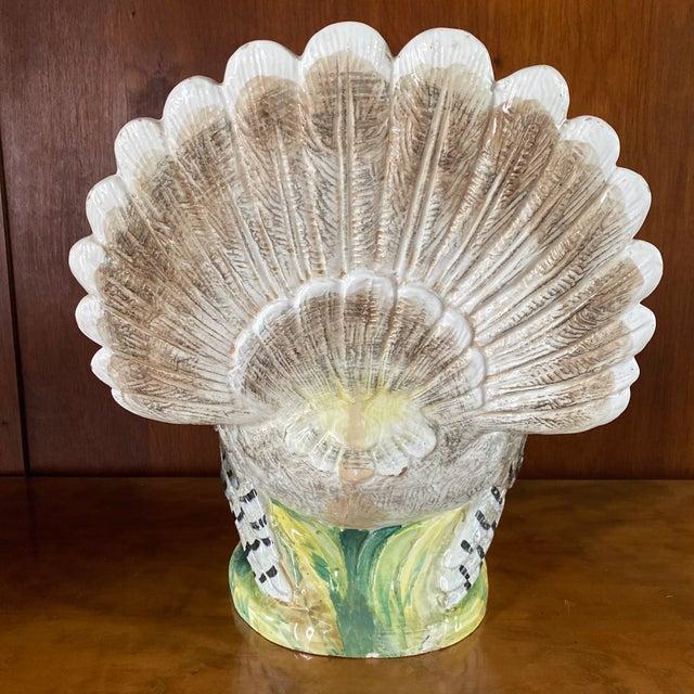 Rustic European Vintage Ugo Zaccagini Signed Ceramic Turkey For Sale - Image 3 of 13