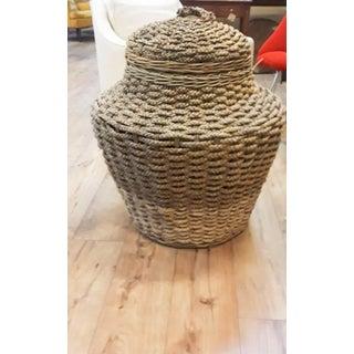 Extra Large Vintage Handmade Floor Basket Preview