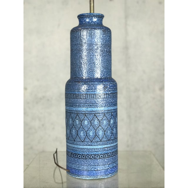 Monumental 1960's Italian Ceramic Table Lamp by Bitossi for Raymor For Sale - Image 10 of 12