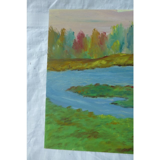 River's Edge Oil Painting by H.L. Musgrave - Image 3 of 6