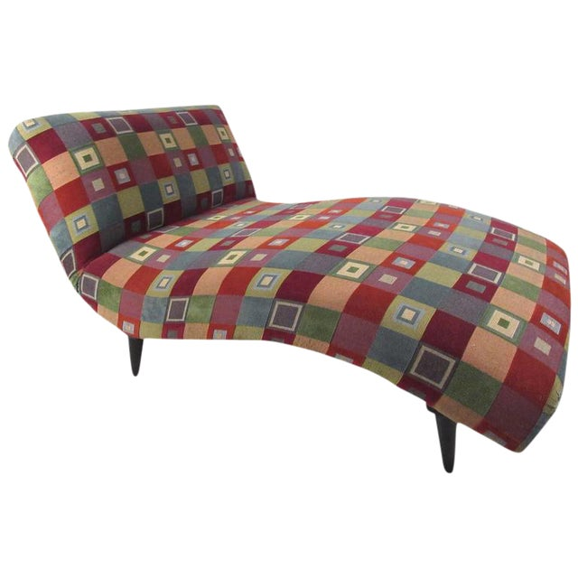 Mid-Century Modern Style Chaise Lounge - Image 1 of 8