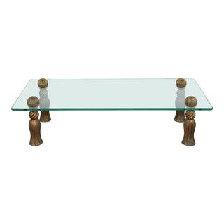 1960s Arthur Court Tassel Coffee Table For Sale