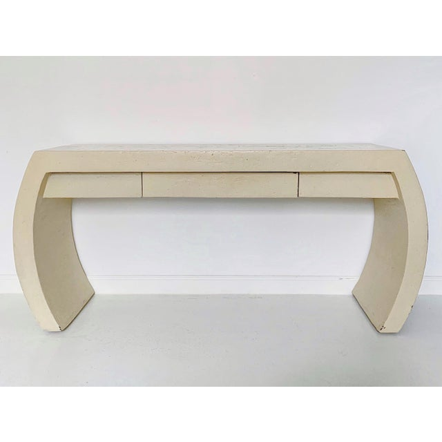 Vintage waterfall plaster console table with drawer, circa 1980's in excellent condition. Reasonable offer will be...