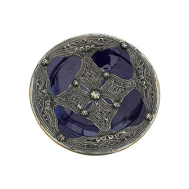 Blue Moroccan Ceramic Bowl For Sale