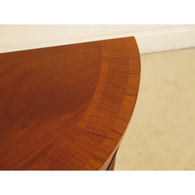 Federal Style Mahogany Demilune Tables - A Pair - Image 4 of 11