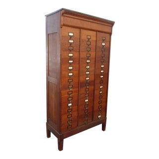 M.Ohmer's Sons Antique Amberg Patent Filing Oak Letter Cabinet For Sale