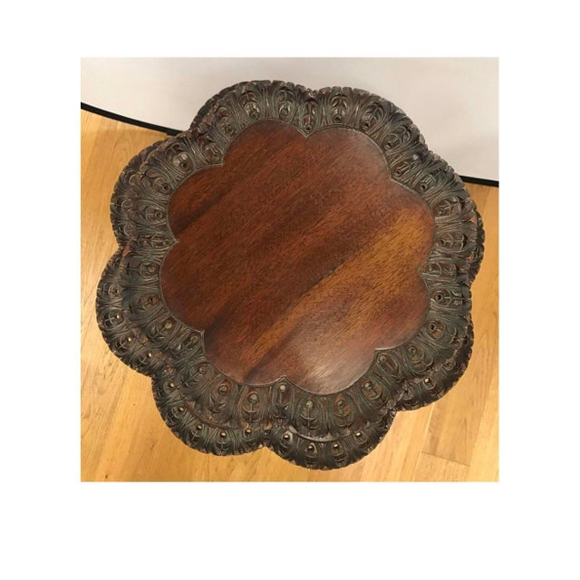 Antique Chippendale Mahogany Two-Tiered Pie Crust Table For Sale - Image 4 of 5