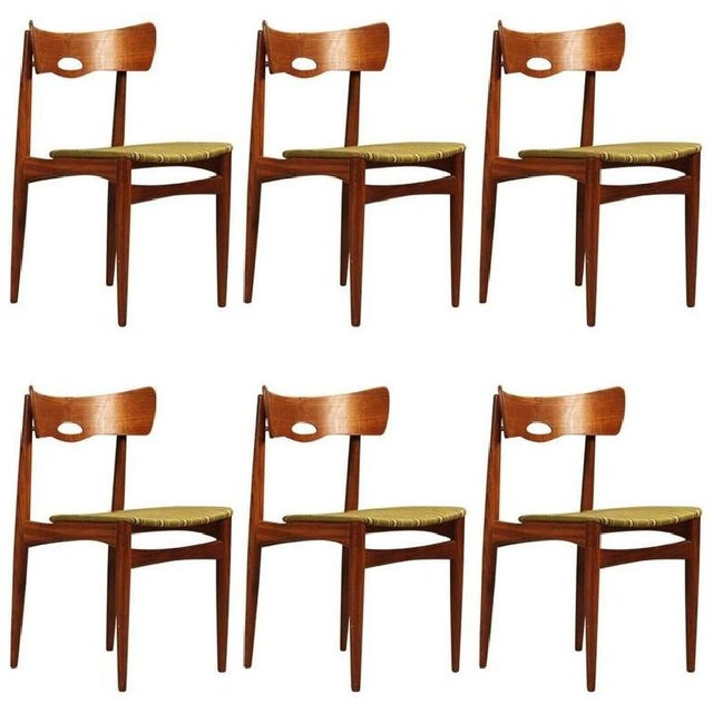 1960s Danish Vintage Teak Chairs by Bramin, 1960s - Set of 6 For Sale - Image 5 of 5