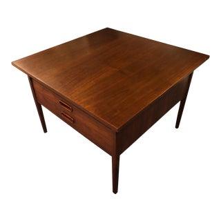 1960s Danish Modern Jens Risom Large Side Table For Sale