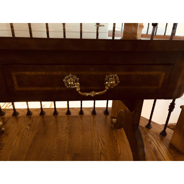 1990s Maitland-Smith English Regency Game Table For Sale - Image 10 of 13