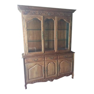 Ethan Allen French Country China Cabinet Buffet For Sale