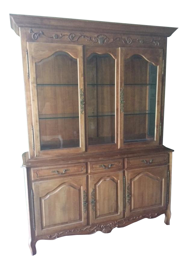 Merveilleux Ethan Allen French Country China Cabinet Buffet For Sale