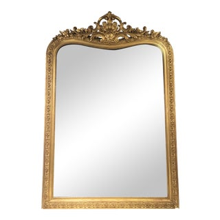 French Napoleon III Monumental Mirror For Sale