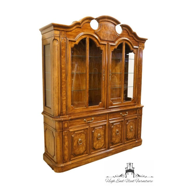 """Thomasville Furniture Contessina Collection 72"""" Lighted China Cabinet 13721-130 87"""" High 72.5"""" Wide 20"""" Deep We specialize..."""
