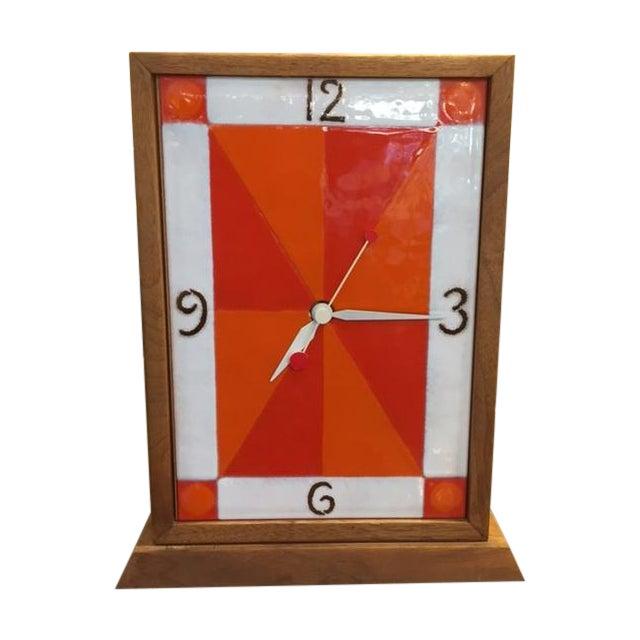 Vintage Modern Enamel on Copper Clock - Image 1 of 8
