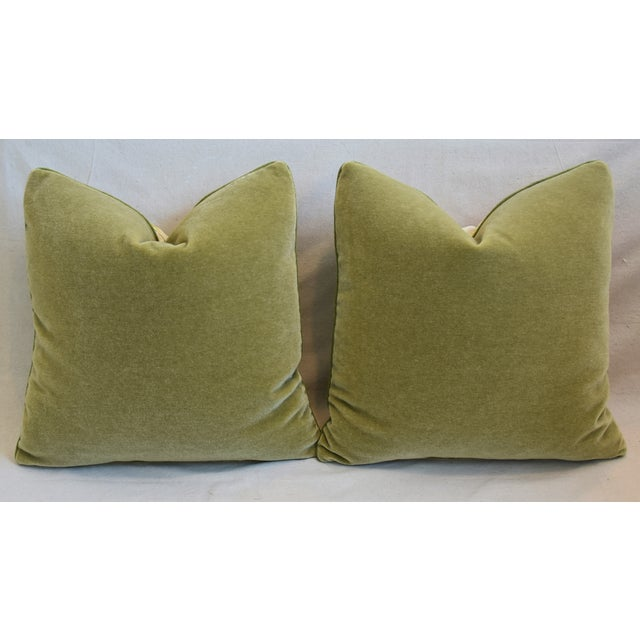 "Raoul Floral & Scalamadre Mohair Velvet Feather/Down Pillows 23"" Square - Pair For Sale - Image 9 of 10"