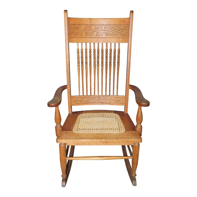 Early 1900s Wood Rocking Chair For Sale