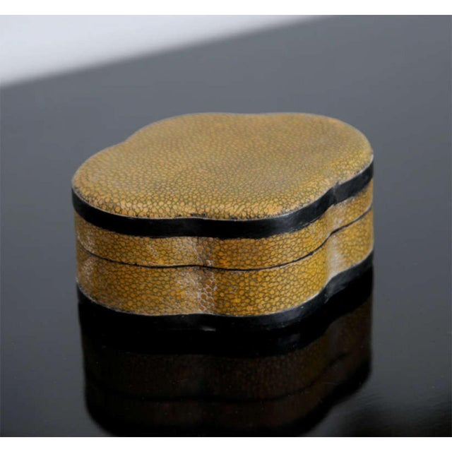 Mid 19th Century Two Chinese Shagreen Covered Boxes, 19th Century For Sale - Image 5 of 9