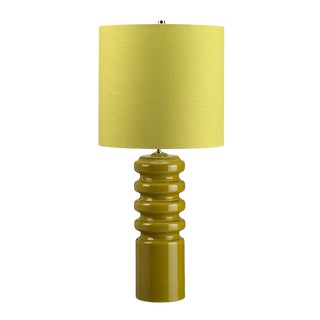Mid-Century Modern Contour Lime Table Lamp