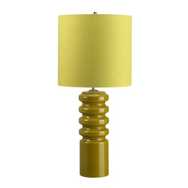 Mid-Century Modern Contour Lime Table Lamp - Image 1 of 3