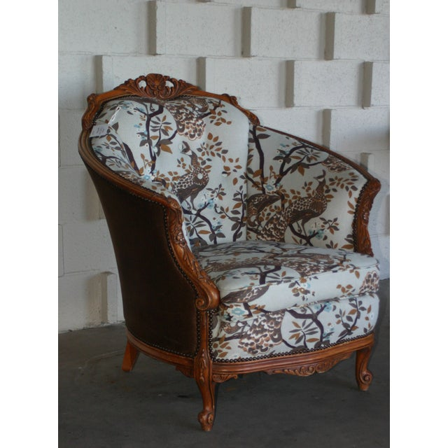 Antique Carved Barrel Chair - Image 7 of 7
