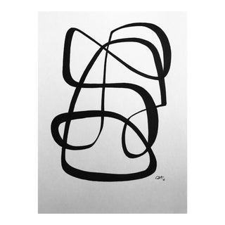 """Minimalistic Original Pen & Ink Drawing, """"Connections"""" by Christy Almond For Sale"""