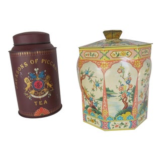 Vintage Tea Canisters For Sale