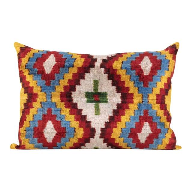 Bohemian Silk Velvet Accent Pillow - Image 1 of 5