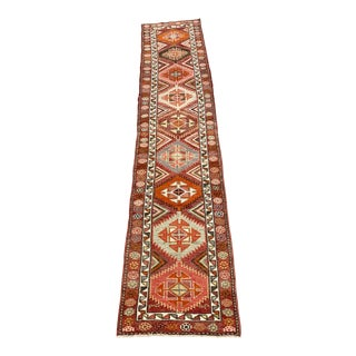 1960s Vintage Turkish Oushak Runner Rug - 2′9″ × 13′4″ For Sale
