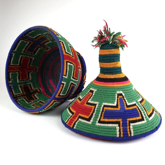 Islamic 1990s Moroccan Berber Lidded Basket For Sale - Image 3 of 7