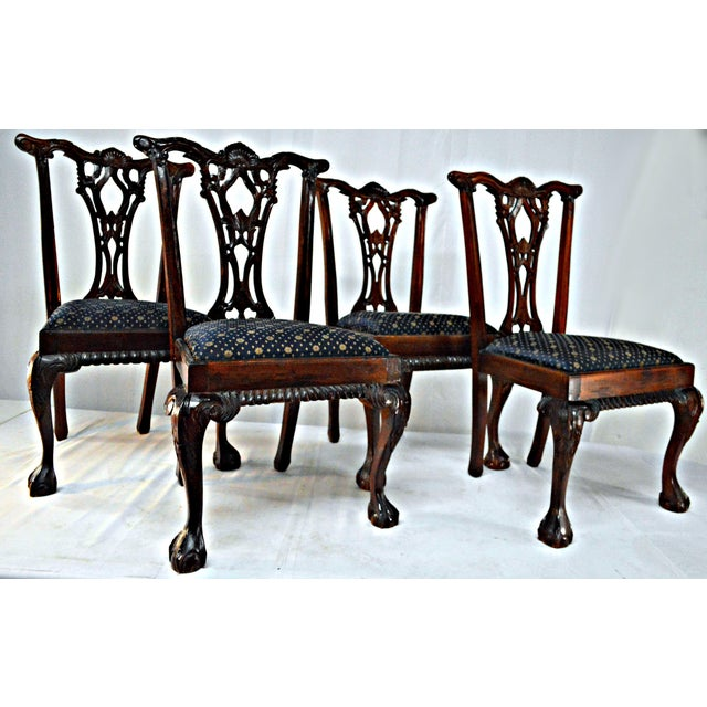 Chippendale Mahogany Dining Chairs - Set of 4 - Image 2 of 9