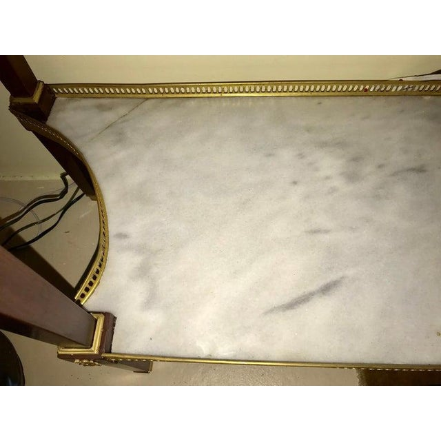 Russian Neoclassical Style Console/Server or Commode With Marble Top For Sale - Image 12 of 13