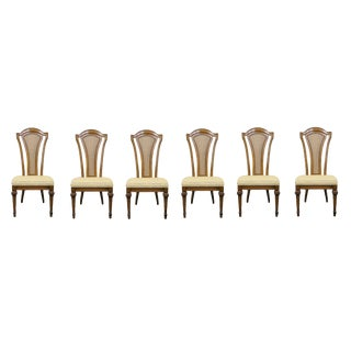 Late 20th Century Italian Style Cane Back Side Chairs- a Pair For Sale