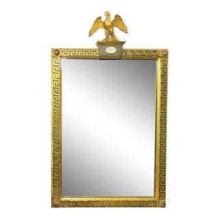 1940s Vintage Neoclassical Italian Borgese Gilded Mirror For Sale