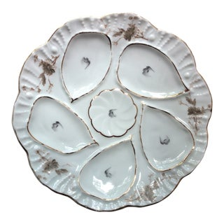 Antique Porcelain Oyster Plate For Sale