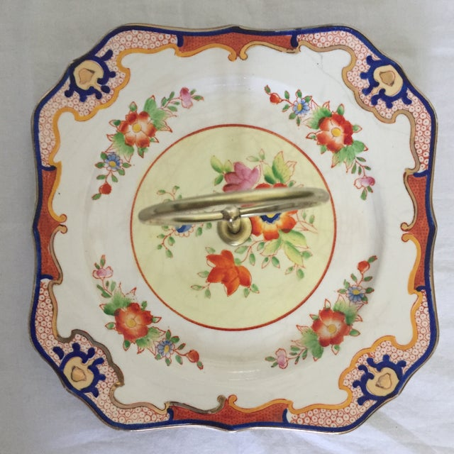 Asian Square Imari Style Candy Dish For Sale - Image 3 of 5