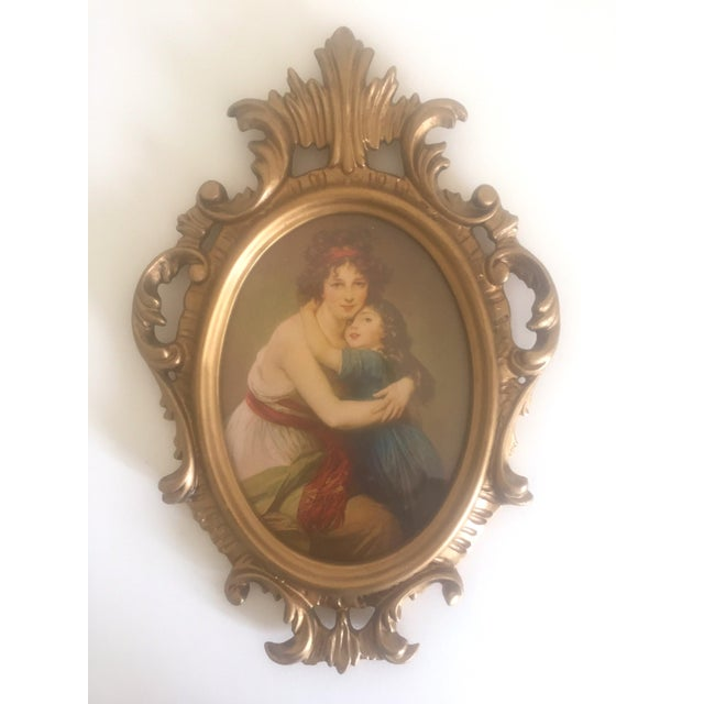 Baroque Vintage Mid-Century Florentine Gilt Framed Art Pieces- Set of 5 For Sale - Image 3 of 9